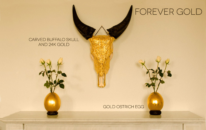 Interior Design and home accessories with Gold
