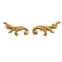 24 karat gold Wall Moulding - arabesque