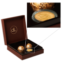 Gold chocolate box with Swiss Gold Coin