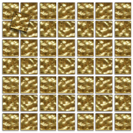 Gold Mosaic wavy, 50 pieces