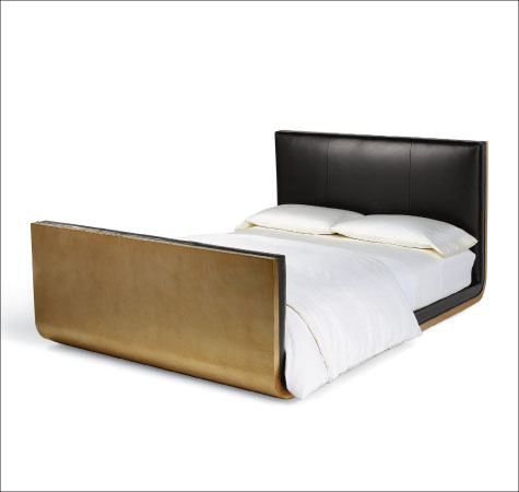 Gold Leaf U0026 Interiordesign: The Gold Leaf Sleigh Bed Of Calvin Klein Home,  October 2015