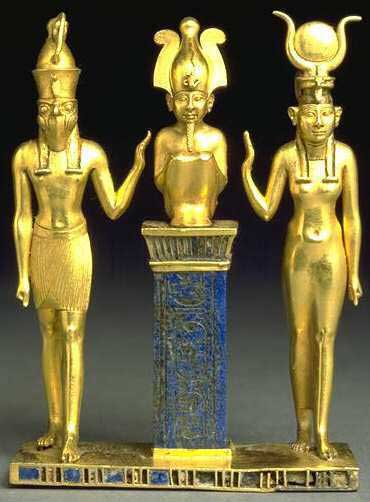 egypt gold statues of gods