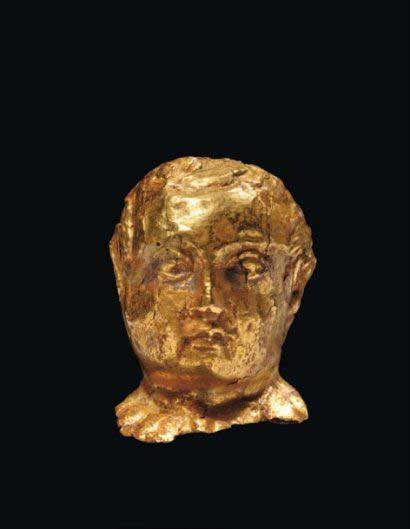 Miniature portraits in gold of roman emperor