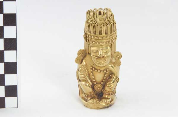 golden statuette of the Emperor Tizoc