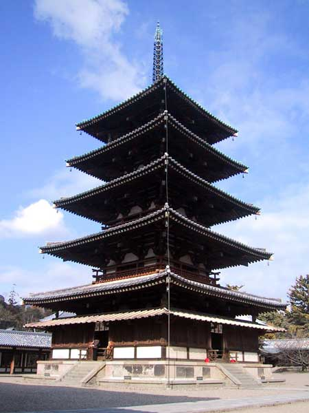Der Nara Horyujili Tempel in Japan