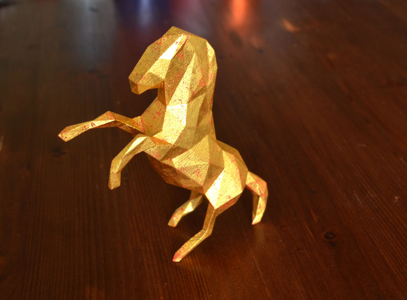 3D printing gilded with 24k gold