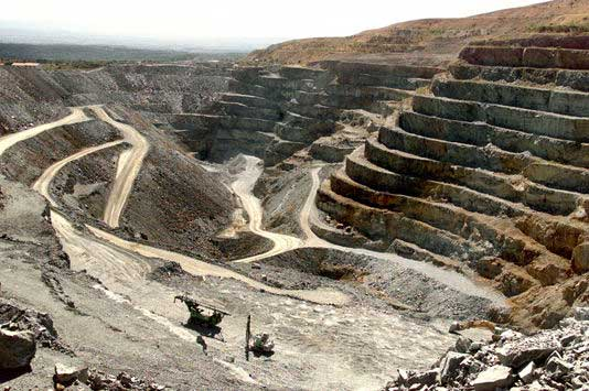 gold mines apperance of quarries