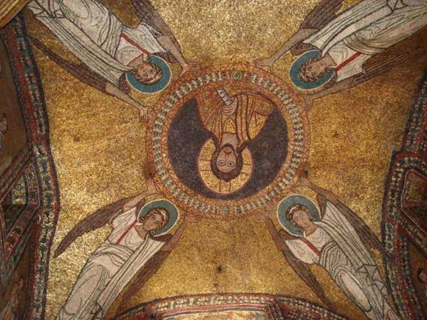 Christ Pantocrator in gold