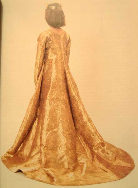 Golden dress of Queen Margaret of Denmark