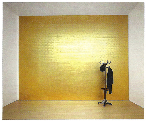 Wall installation by Jannis Kounellis
