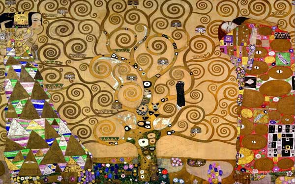 Painting by Klimt using gold