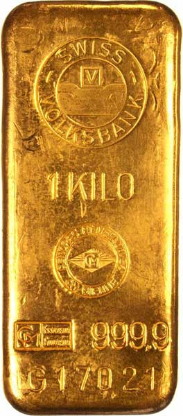 gold bar of one kilo
