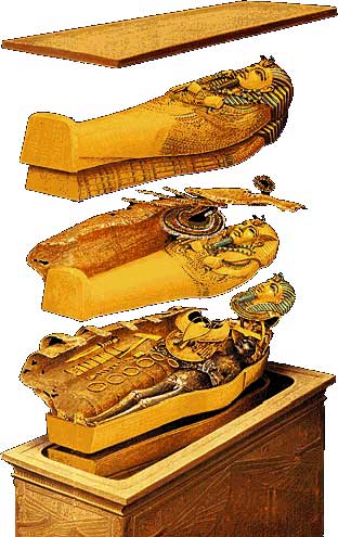 sarcophagus made of solid gold