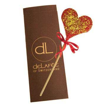 DeLafée's gold lollipop