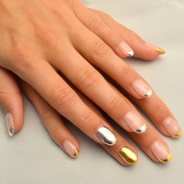 Gilded Nail Art Nude Look By Delafe Using Delafe Gold Nail Art