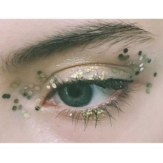 Gold Leaf And Beauty Glitter And Gold Leaf At Markus Lupfer Aw16