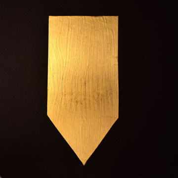 wood with 24k gold