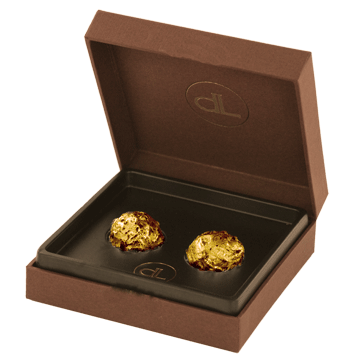chocolate with edible gold - small box