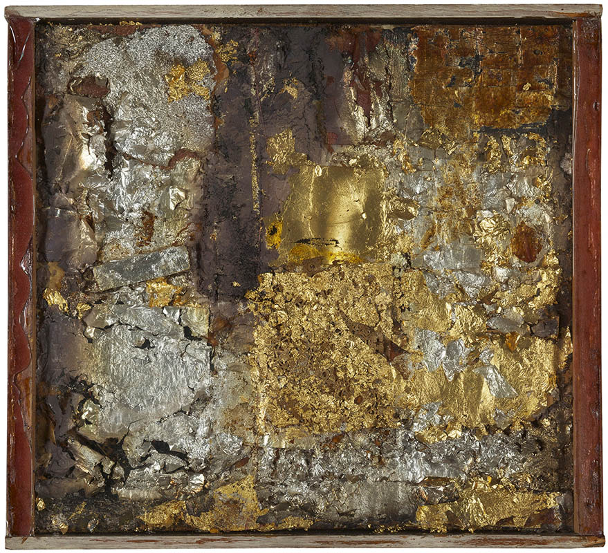 Mixed media painting by Robert Rauschenberg
