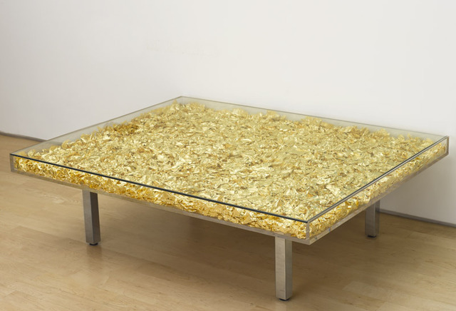 Popular Gold leaf inspiring artists: Table Or by Yves Klein, October 2015  EC52